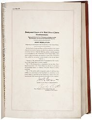 US Constitution 21st Amendment in the National Archives