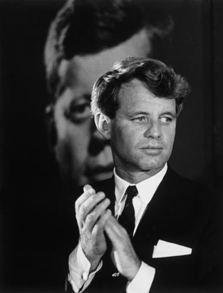 Robert F. Kennedy with JFK photo